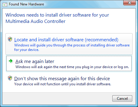 Multimedia Audio Controller Driver Vista